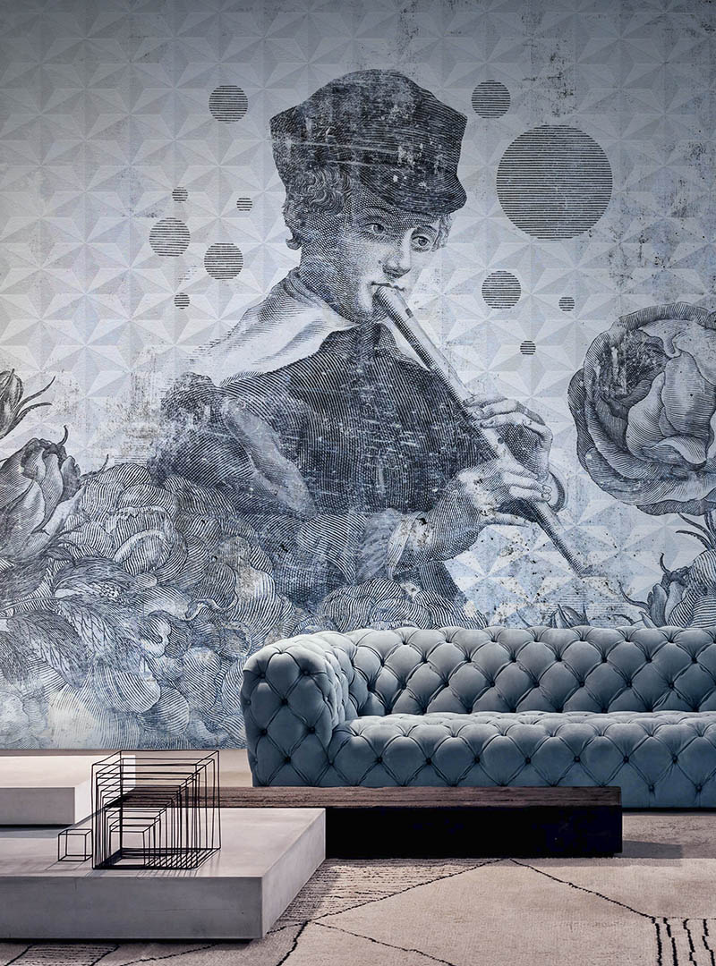 Blue Melody contemporary wallpapers