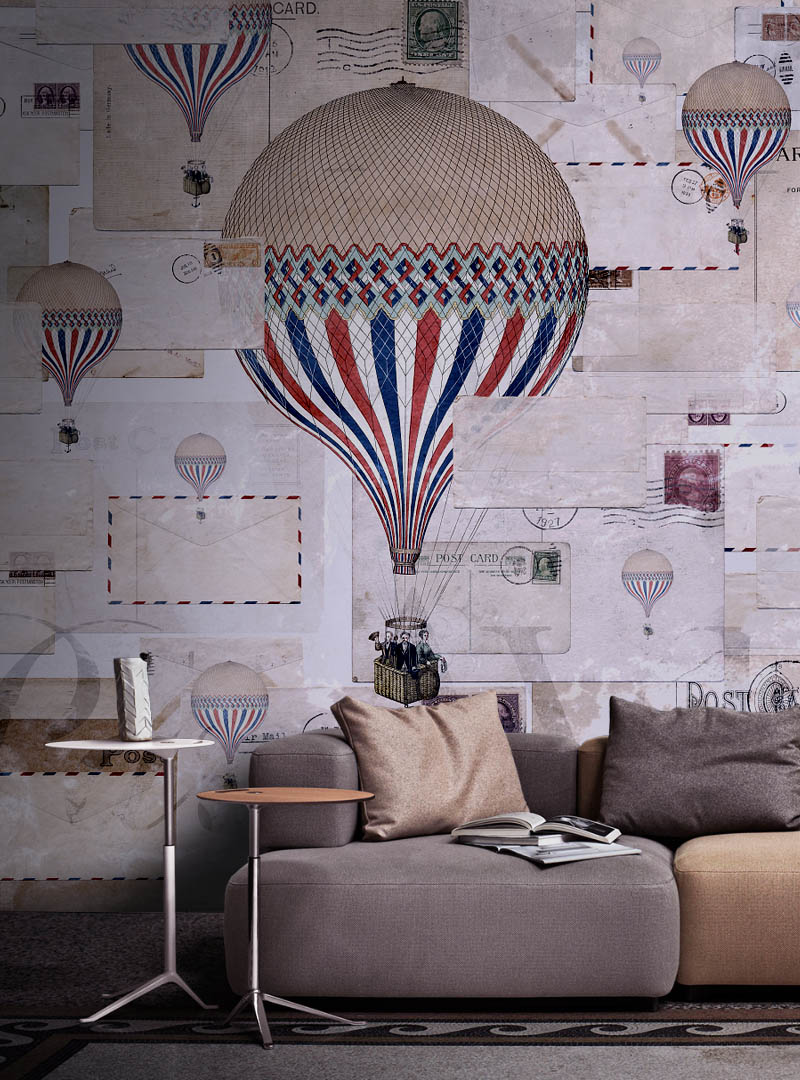 Par Avion contemporary wallpaper
