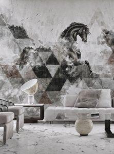 Apollon Cantemporary wallpaper by Idea Murale