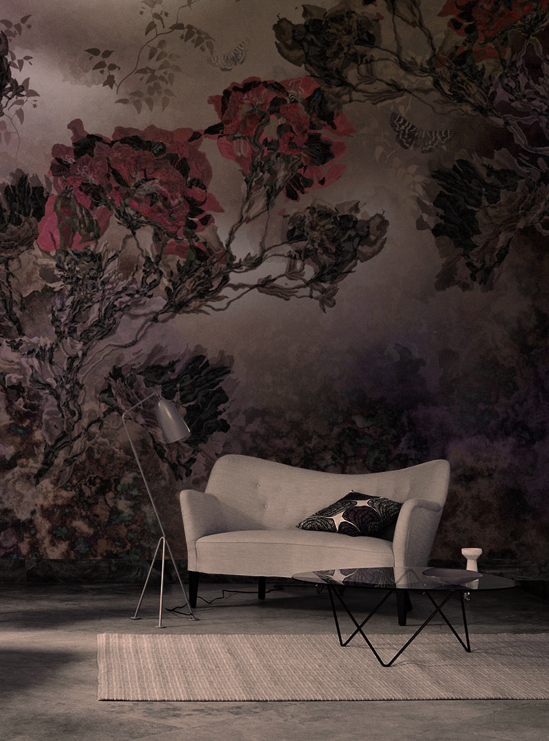 Enigma del Fiore contemporary wallpaper