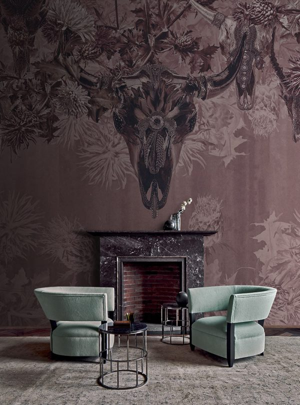Horns and Torns contemporary wallpaper