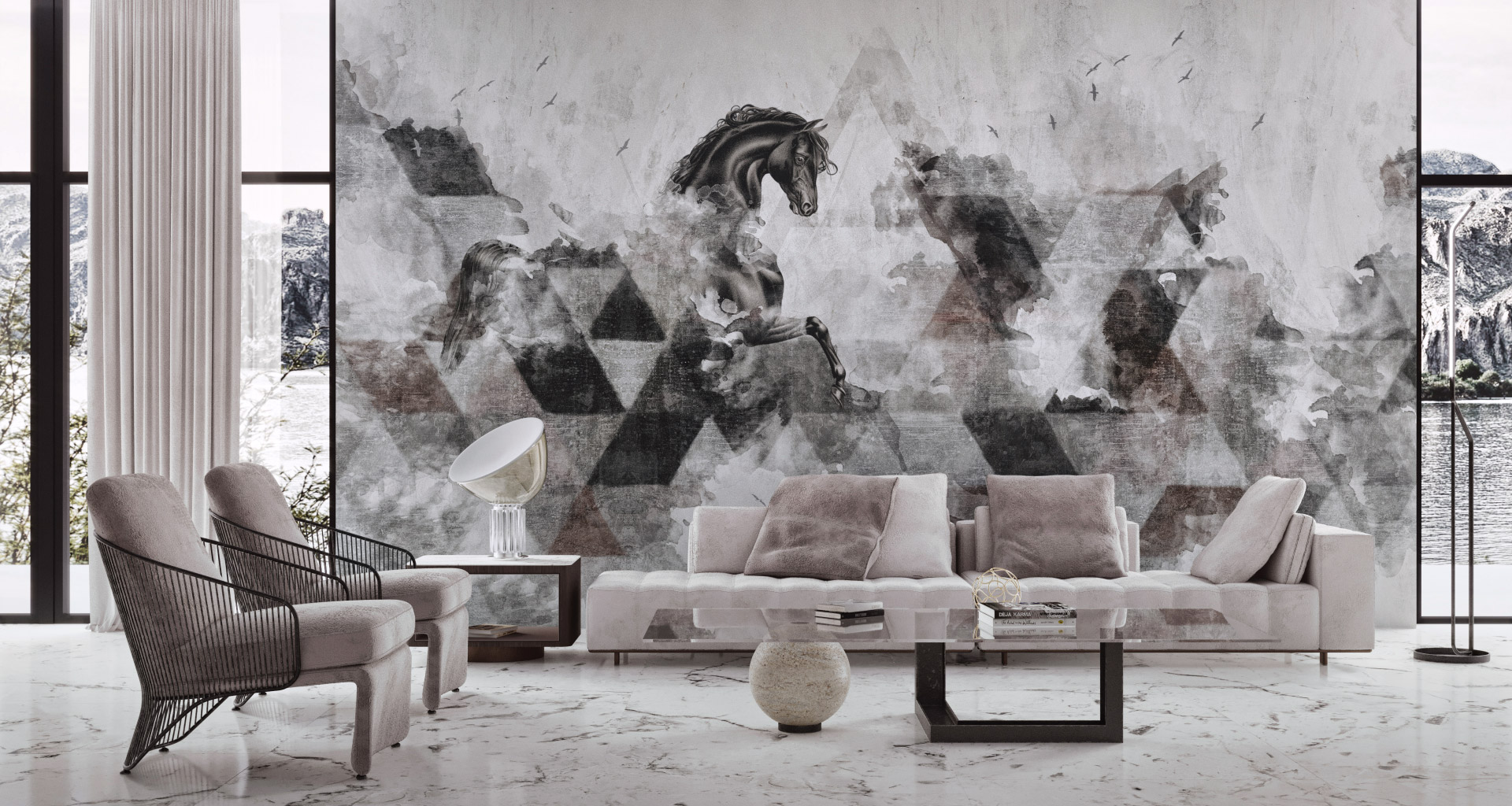 Idea Murale contemporary wallpapers in a custom size