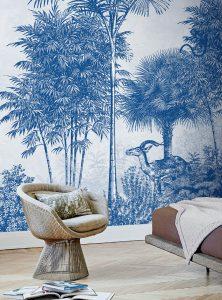 Palmetto contemporary wallpaper