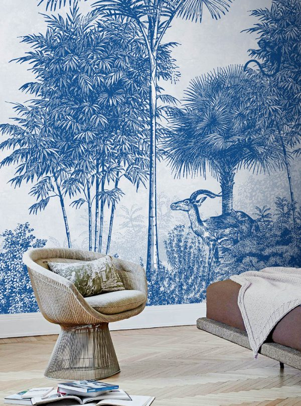 Palmetto contemporary wallpaper