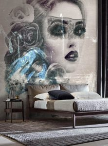 The Longing Eyes contemporary wallpaper