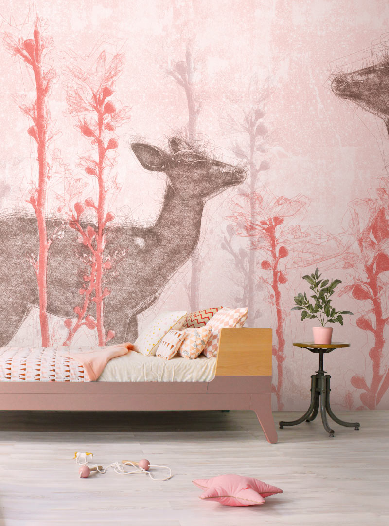 Bei Cervi modern wallpaper in a custom size
