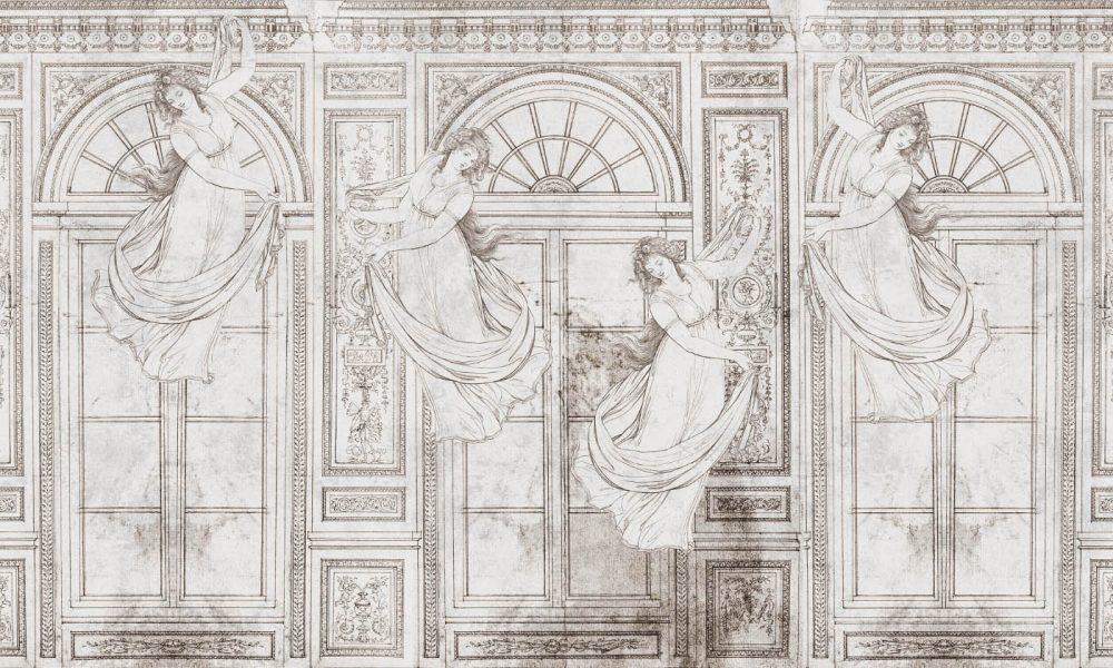 Belle Epoque vintage wallpaper