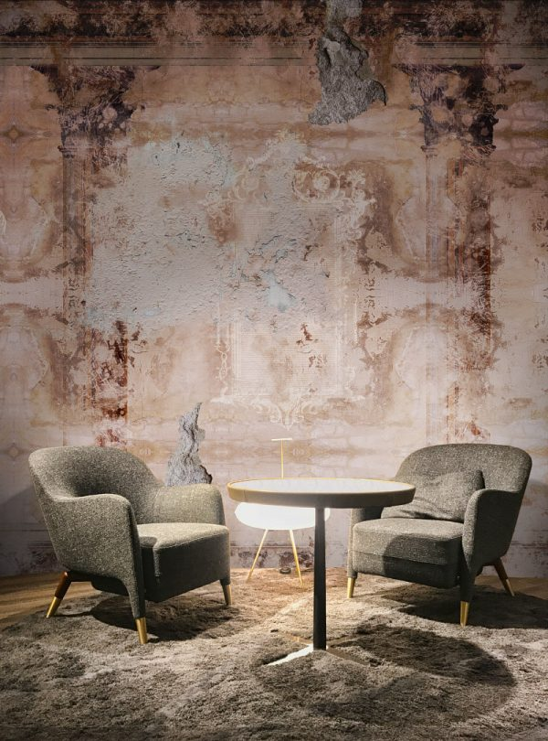 Fresco Antique modern wallpaper in a custom size by Idea Murale