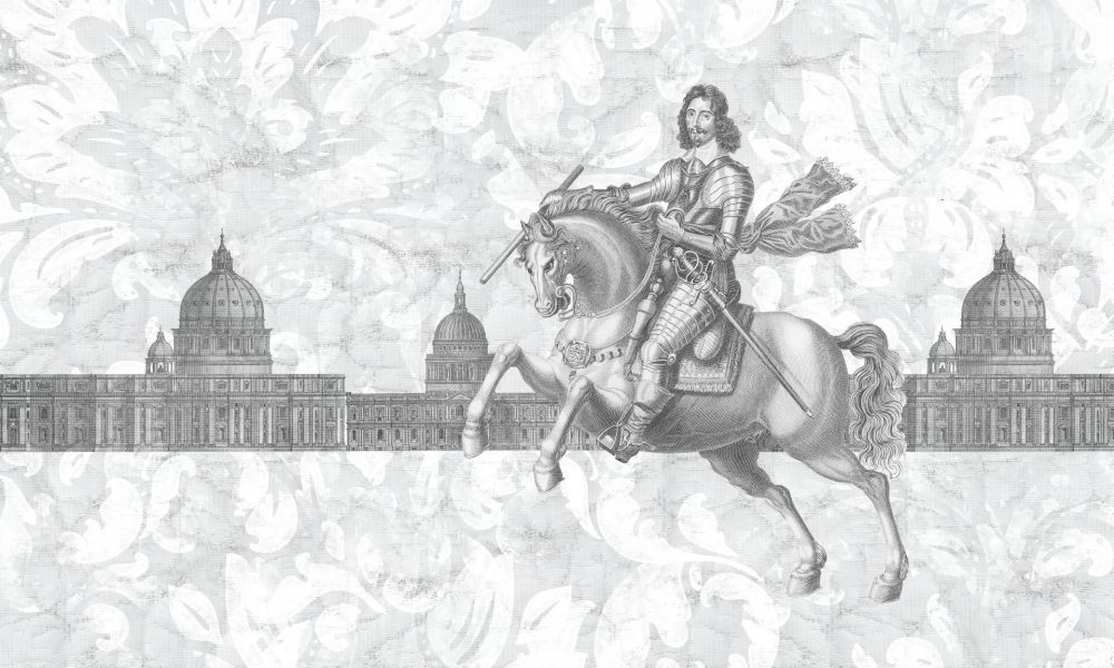 Il Vincitore modern wallpaper in a custom size