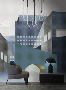 Neometropolis modern wallpaper by Idea Murale