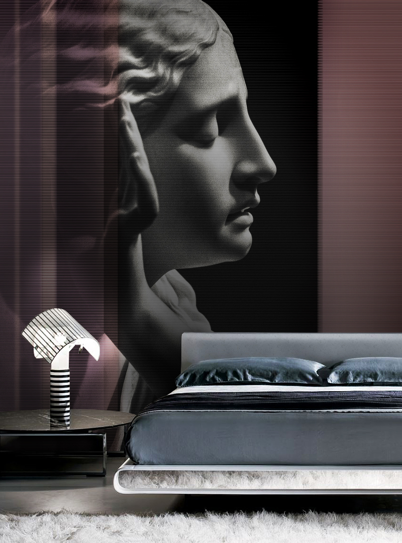 Whisper in the night modern wallpaper by Idea Murale
