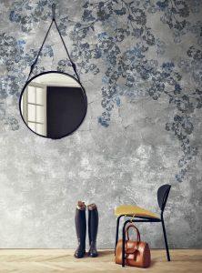 Blossom in Blue modern wallpaper