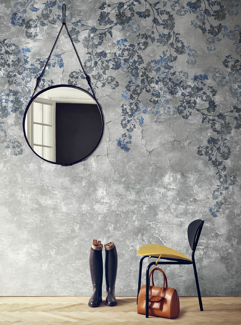 Blossom in Blue modern wallpaper