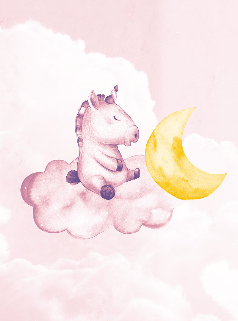 Dreaming Unicorns modern wallpaper