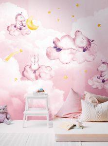 Dreaming Unicorns modern wallpaper by Idea Murale
