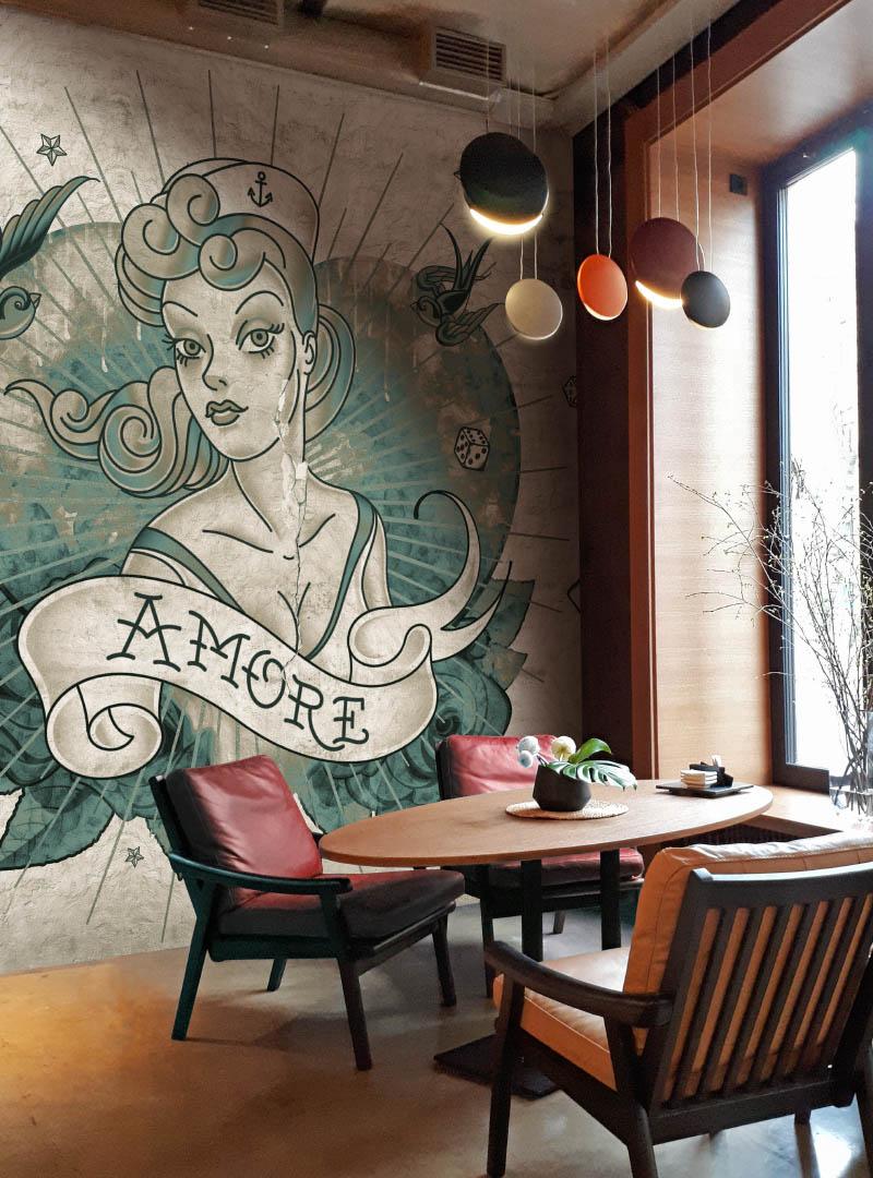 Amore modern wallpaper