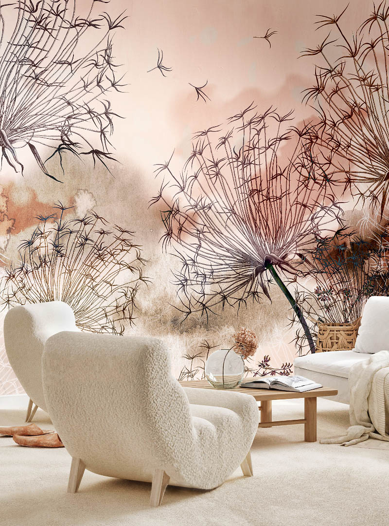Ethereal contemporary wallpaper