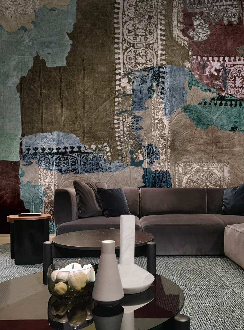 Ethno Echoes modern wallpaper by Idea Murale