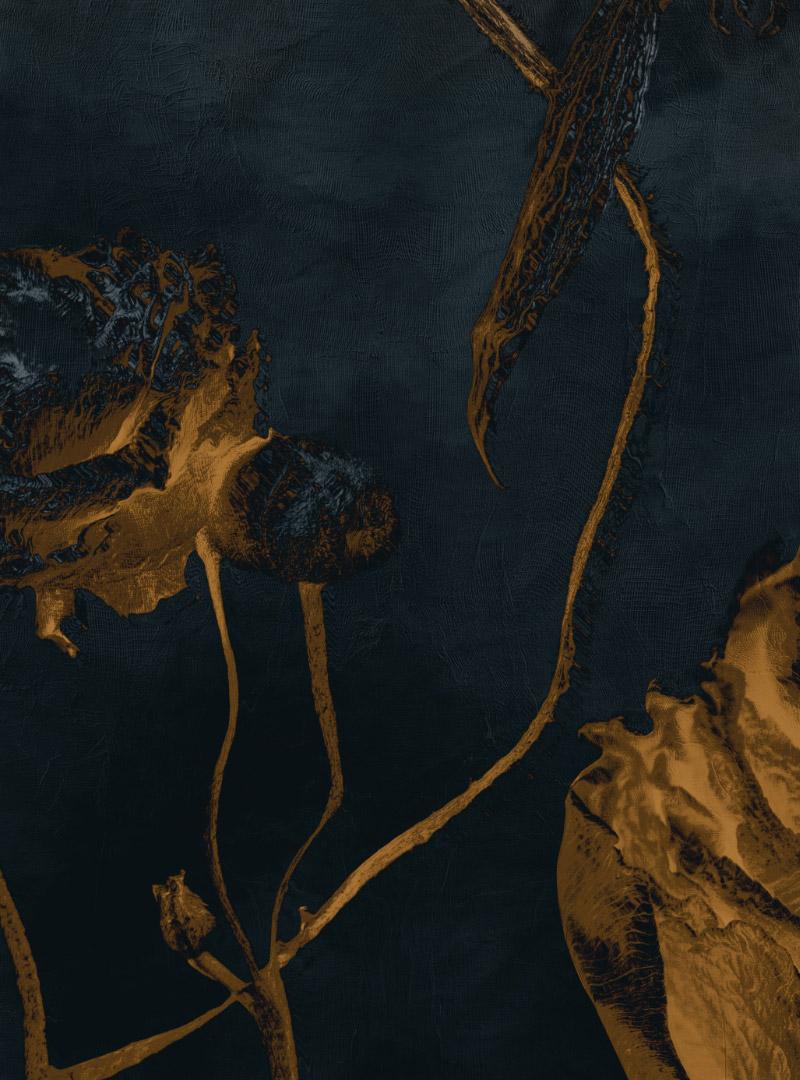 Golden silence II - contemporary wallpaper