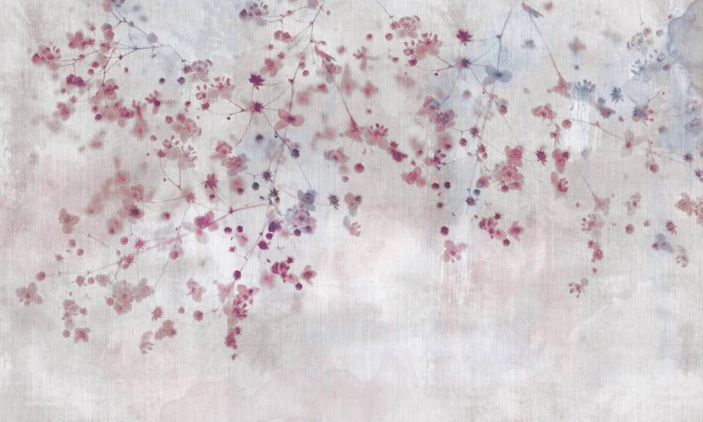 Bloom in Pink Contemporary wallpaper
